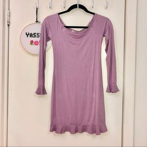 Lavender Long Sleeve Skater Dress
